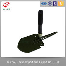 High Quality 50Mn Carbon Steel Portative Retractable Shovel With Quenched Blade Rigidity 45-48 Degree