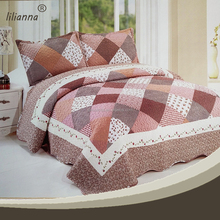 Professional manufacturer brushed fabric printed cotton patchwork bedsheets