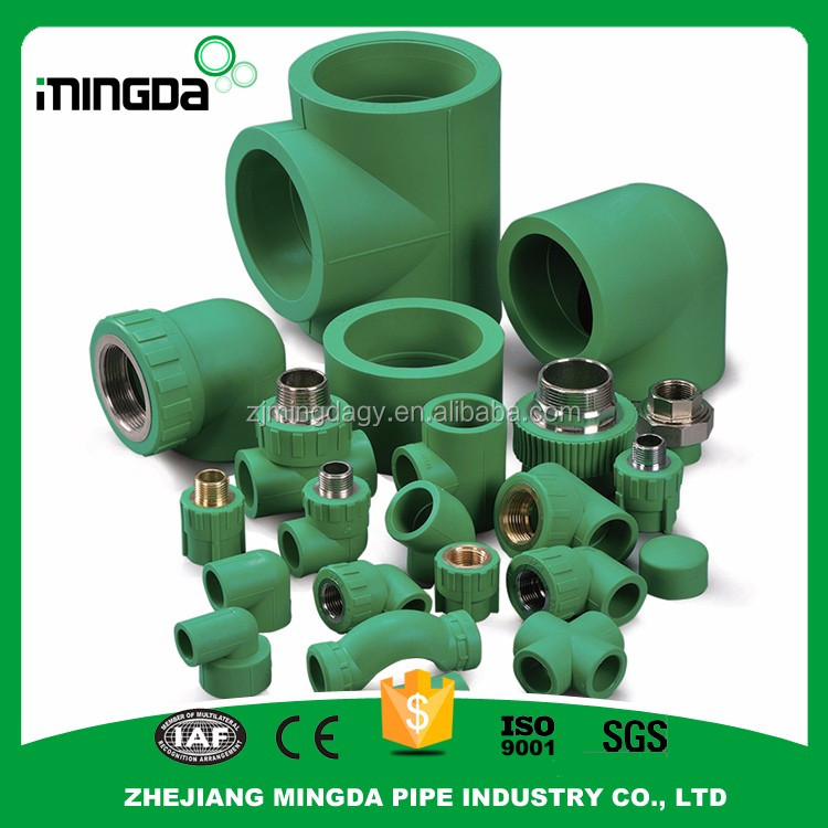 wholesale plastic water connection fittings green ppr plumbing pipes and fittings 90 degree square tube elbow