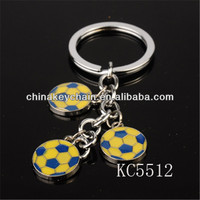2014 world cup gifts personalized football shaped keychain
