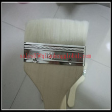 Custom natural pig hair paint brush with wooden handle