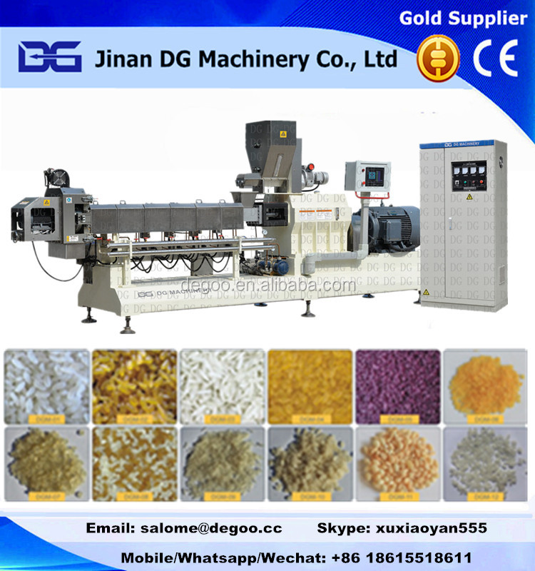 Automatic Broken rice flour artificial long rice making extruder machine/process line