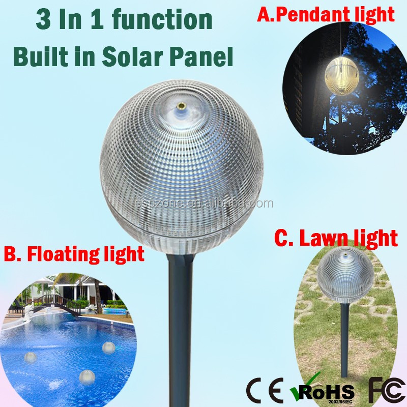 Solar Garden Light Ball Solar Pole Lights Home Solar Gutter Light
