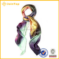 Fashion Ladies 100% polyester printing voile scarf