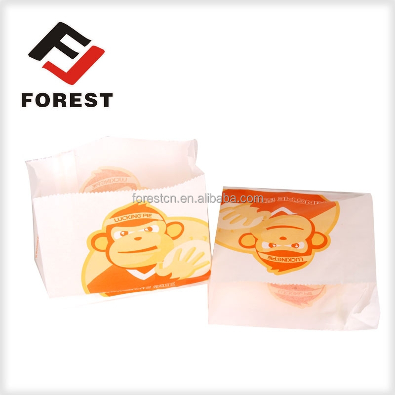 high quality fast food bag,snack packaging bag,greaseproof paper bag for food