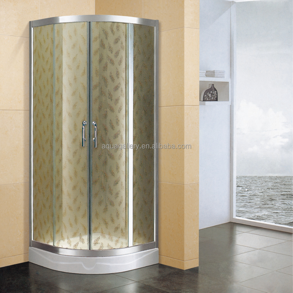 Silk Screen Tempered Glass Shower Cabin