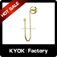 KYOK Upscale S-Shap Curtain Rod Hooks, Adjustable Metal Window Drapery Hook