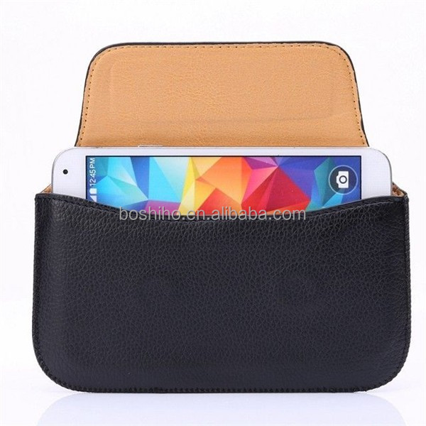 New Design Mobile Phone Belt Leather Cover Case Waist Pouch Bag