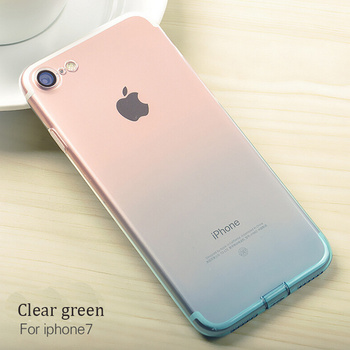 DFIFAN Slim Phone Case for iphone 7 Clear Protective ,Fade Color Mobile Cover Case for apple iphone7 Plus