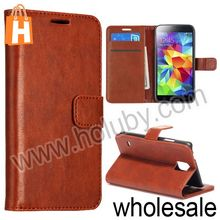 Wholesale Leather Case for Samsung Galaxy S5, Wallet Style Leather Case for Samsung i9600
