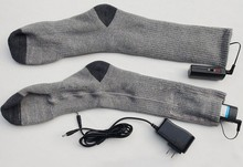 2015 Best 3.7V 2200mAh Li-ion heated ski socks