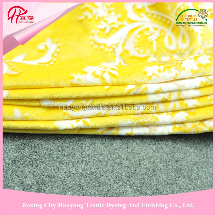 Short pile velvet pantone various colors and pattern plush fabric for making soft toys from Haining Jiaxing China