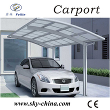 Polycarbonate and aluminum carport open roof car