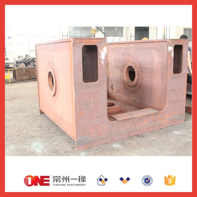 designed heavy welding steel frame structure with surface preparation