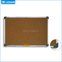 Aluminum Frame Plastic Corner High Quality Popular School Writing Wood Cork Board Notice Memo Board