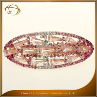 Korean style women crystal hair clips wholesale fashion oval hair accessories