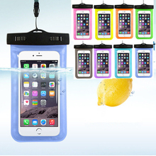 newest Transparent Waterproof Underwater Pouch Dry Bag Case phone Cover For iPhone 7 Cell Phone Touch screen cases