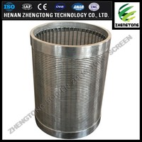 good quality Stainless steel sand control wire wrapped water well screen