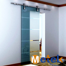 Exterior stainless steel sliding glass door for house design