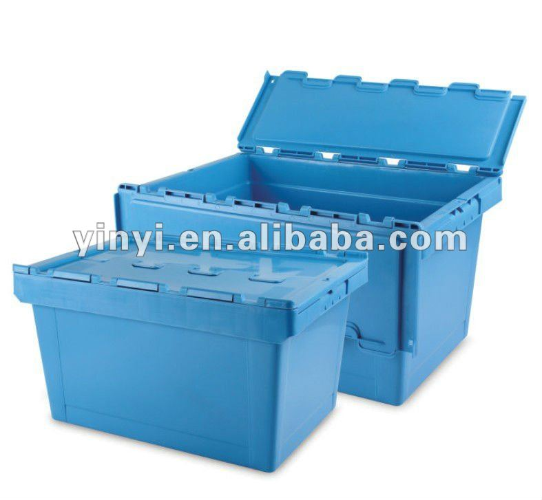 Plastic turnover box with lid (6129315)
