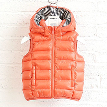 Utility upgrade boys hooded vest thick warm kid cotton vest