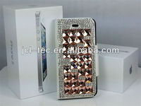 2013 newest Mixed High Quanlity Diamond Crystal Material Metal Diamond Case Cover for iphone 4/4s
