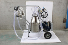 human single cow portable milking machine