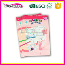 Top Quality diy spiral binding customizable islamic calendar book
