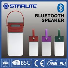 STARLITE led light camp bluetooth square portable speaker