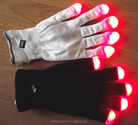Hot Selling Party Favor Event & Party Item Type and Santa Claus Christmas Occasion LED Flash Finger Light Gloves