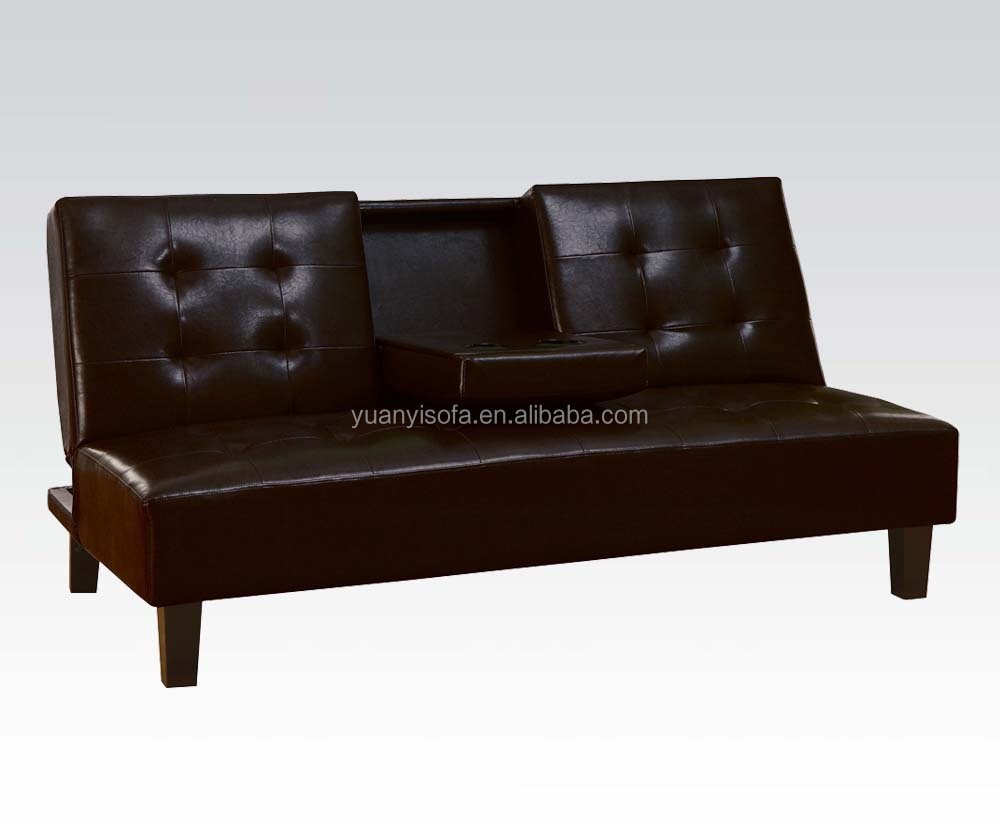 YB2220 Modern Home Furniture Folding highquality PU leather sofa bed in with drawer coffe table