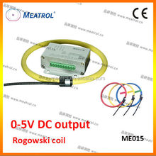 0-5V DC output flexible rogowski coil ME015 air-cored current sensor(with integrator)
