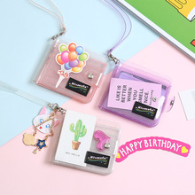 Promotion Gifts Transparent Plastic Custom PVC Business Phone ID Credit Card Holder <strong>Wallet</strong>