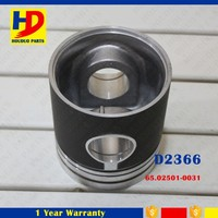 D2366 Daewoo Diesel Engine Piston With Pin 65.02501-0031 Diameter 123mm