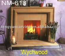 natural marble european gas fireplace