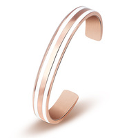 2019 New Design Bangle Stainless Steel Women Men Cuff Bracelet Rose Gold In Stock Free Shipping