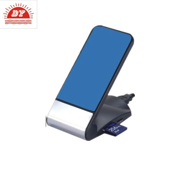 plastic craft mobile phone holder with card reader and charger