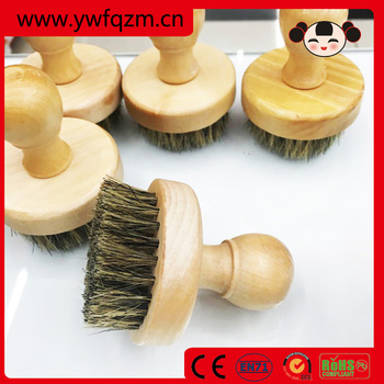 2017 new high quality facial bristle beard brush