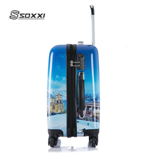 High Quality Printing Hard Shell 4 wheels carry on travel suitcase
