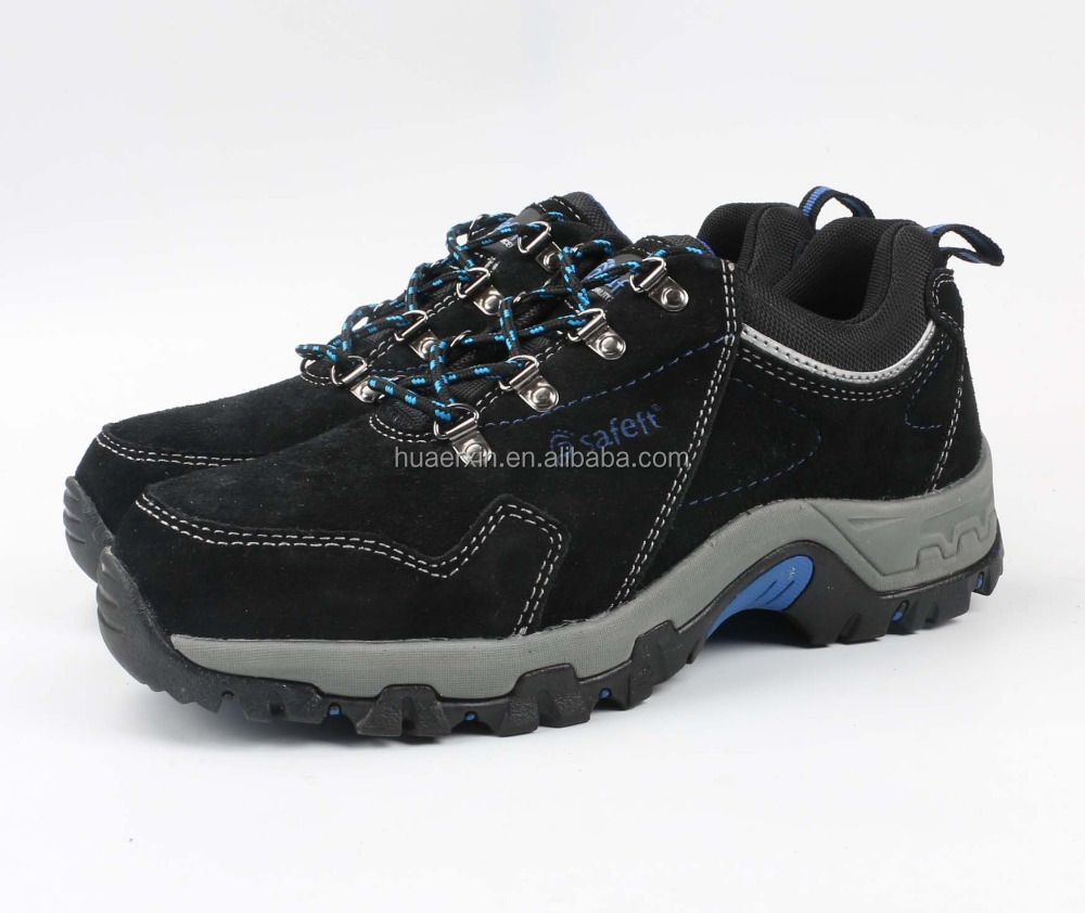 Lemaitre Sporty S3 SRC Black Leather Steel Toe Cap Safety Trainers Work Shoe PPE