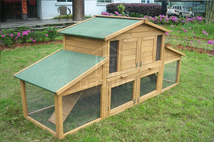 Outdoor hot selling portable fir wood cage for rabbit