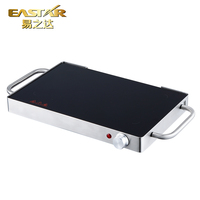 Restaurant table used steak electric ceramic plate bbq glass grill