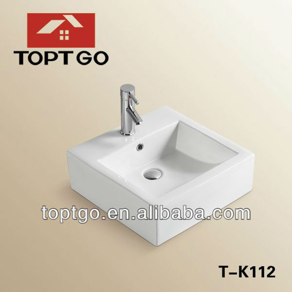 Fancy Sinks with Cabinet bathroom water basin, Above Mounting Basin T-K112