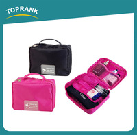 TOPRANK Alibaba Trade Assurance New Design Fashion Beautiful Cosmetic Cag Foldable Hanging Womens Travel Cosmetic Makeup Bag