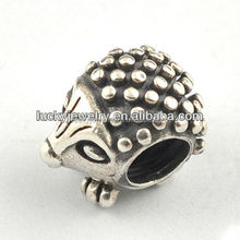 Lovely Cute Metal Animal Head Hedgehog Shape Jewelry Findings Alloy Beads For DIY