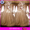 ST134 Custom Made Embroidery Heavy Beaded Ball Gown Satin Muslim Bridal Wedding Dress