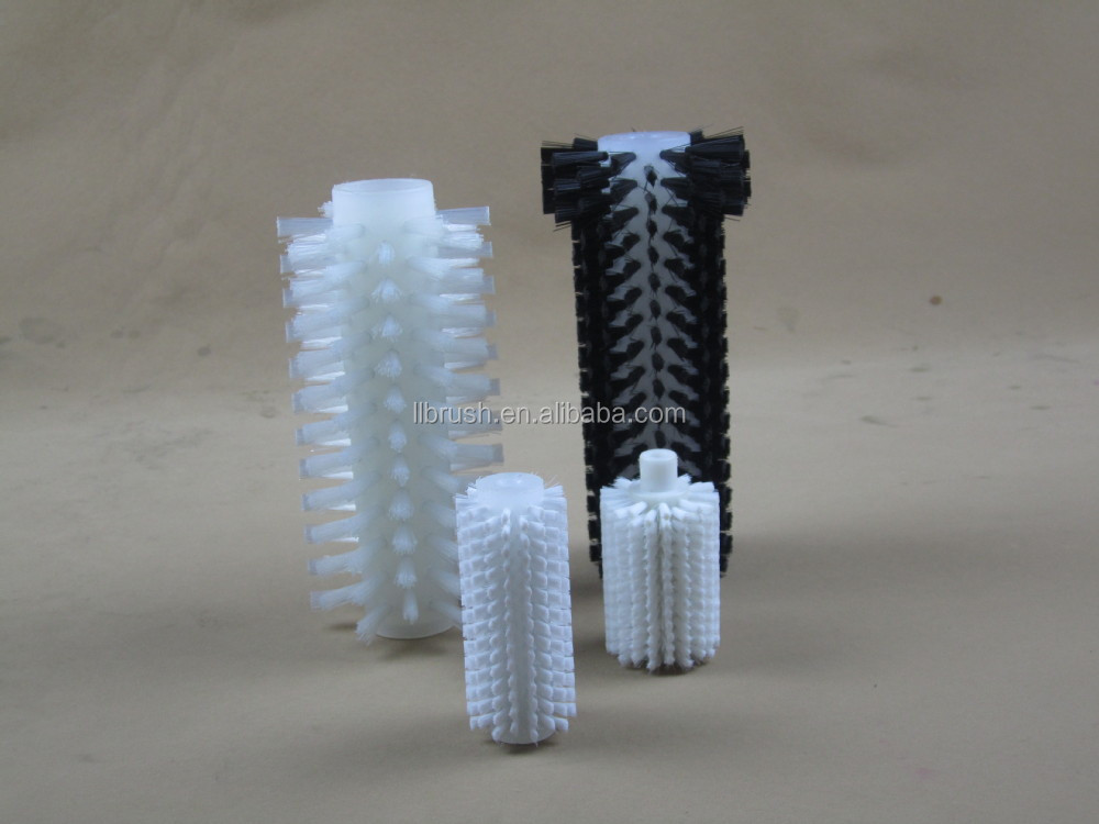 punching nylon bristle cleaning brush roller for CNC industrial