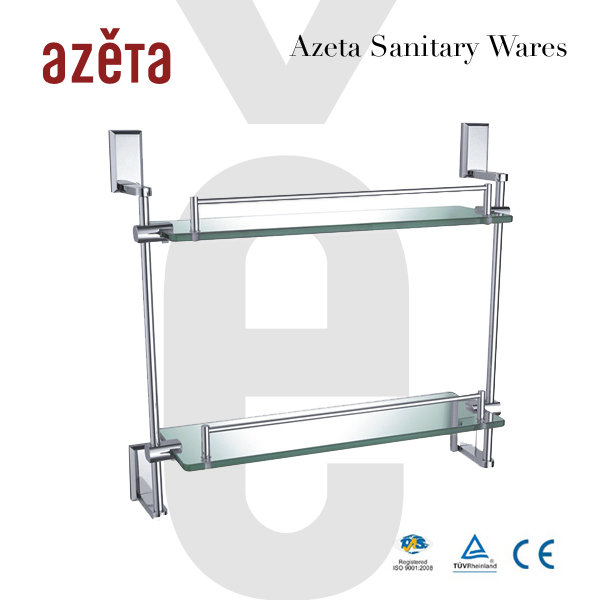 Azeta Bathroom Accessories Wall Mounted Glass Towel Rack
