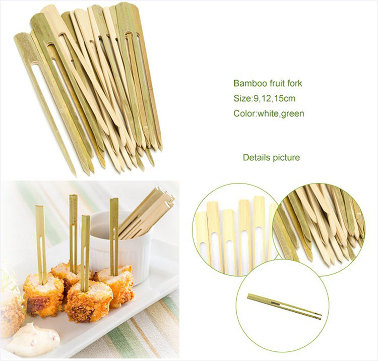 Happy birthday bamboo disposable knot pick finger joint for Canape cocktail sticks