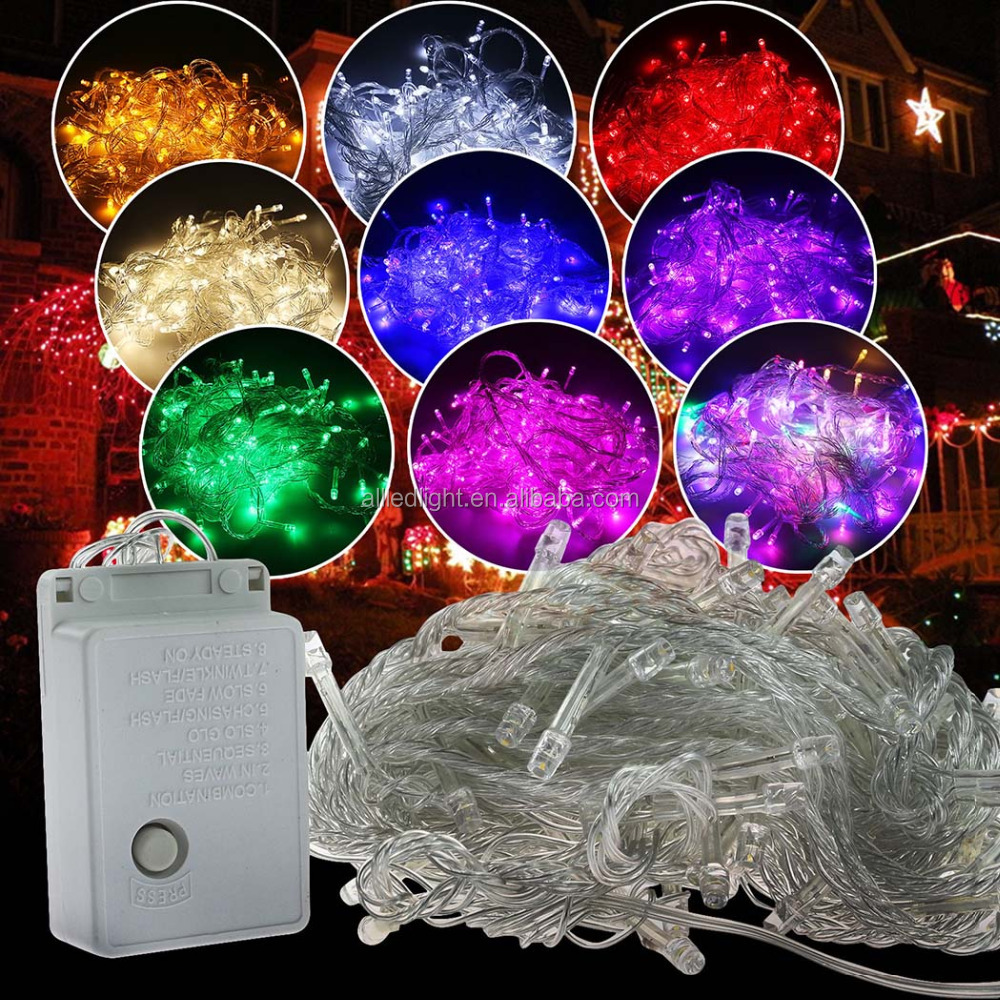 led christmas lights wholesale 100 leds/10m 110v/ 220V LED String fairy, Christmas led string light